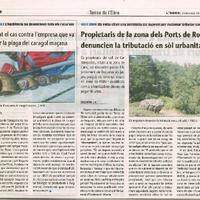 Propietaris de la zona dels Ports de Roquetes denuncien la tributació en sòl urbanitzable.