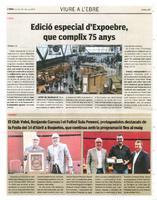 El Club Volei, Benjamín Cuevas i el Futbol Sala Femení, protagonistes destacats de la Festa del 14 d'abril a Roquetes, que continua amb la programació fins al maig.