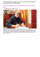 Tots els alcaldes republicans de Terres de l'Ebre han signat el decret de suport al referèndum.