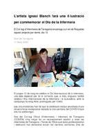 L'artista Ignasi Blanch farà una il·lustració per commemorar el Dia de la Infermera.