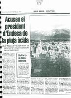 Acusen el president d'Endesa de la pluja àcida.