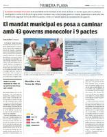 El mandat municipal es posa a caminar amb 43 governs monocolor i 9 pactes.