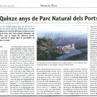 Quinze anys de Parc Natural dels Ports.