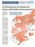 La Fiscalía ponen en el punto de mira a 138 alcaldes tarraconenses.
