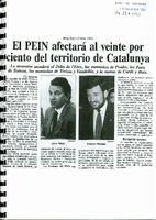 El PEIN afectará al veinte por ciento del territorio de Catalunya.