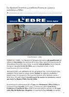 La diputació invertirà 5,2 milions d'euros en 4 anys a carreteres a l'Ebre.