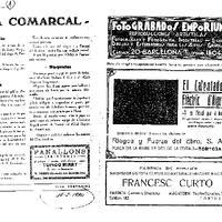 Recull de premsa sobre el CD Roquetenc, publicat al gener de 1930 al setmanari Vida Tortosina