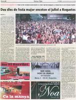 Deu dies de festa major enceten el juliol a Roquetes