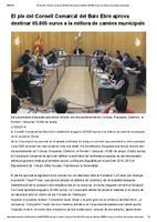 El ple del Consell Comarcal del Baix Ebre aprova destinar 95.805 euros a la millora de camins municipals