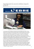 Reportatge sobre les costureres solidàries: teràpia de producció.