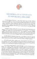 Memòria d'activitats del CD Roquetenc. Temporada 2004/2005