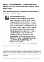 """Problemes per a un mestre de l'escola d'Ulldecona que s'alegra """"molt"""" de la mort del torero Víctor Barrio."""
