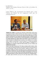 """Aspa (ERC): """"El pressupost de l'Estat per a les Terres de l'Ebre és un argument més per la independència"""""""