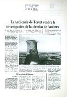 La Audiencia de Teruel reabre la investigación de la térmica de Andorra