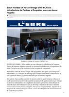 Salut realitza un nou cribratge amb PCR als treballadors de Padesa a Roquetes que van donar negatiu.
