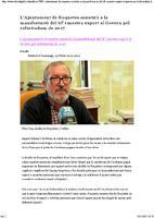 L'Ajuntament de Roquetes assistirà a la manifestació del 6F i mostra suport al Govern pel referèndum de 2017.