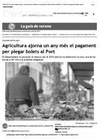 Agricultura ajorna un any més el pagament per plegar bolets al Port