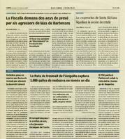 El PSC porta al Parlament reduir la ràtio del M. Domingo de Roquetes.