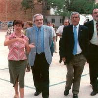 Visita del Sr. Joan Manuel del Pozo Àlvarez, Conseller d'Ensenyament de la Generalitat de Catalunya, a l'Escola Mestre Marcel·lí Domingo de Roquetes