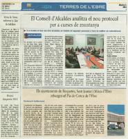 Els ajuntaments de Roquetes, Sant Jaume i Móra d'Ebre rebutgen el Pla de Conca de l'Ebre