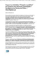 """Esquerra reivindica """"l'impuls republicà"""" per guanyar les eleccions municipals i europees a les Terres de l'Ebre."""