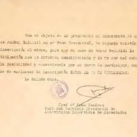 Comunicat de José Maria Grau Cuadrat al CD Roquetenc, 1970