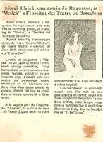 """Mercè Lleixà,  una actriu de Roquetes, és """"Medeà"""" a l'Institut de Teatre de Barcelona"""