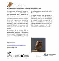 Inauguració de l'escola de naturalistes lo Caro