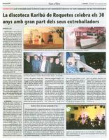 La discoteca Karibú de Roquetes celebra els 30 anys amb gran part dels seus treballadors.