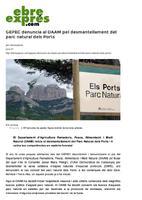 GEPEC denuncia al DAAM pel desmantellament del parc natural dels Ports