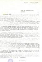 Comunicat del President del CD Roquetenc, Joan Guinart Espuny al Gobernador Civil de Tarragona, 1989