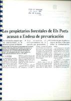 Los propietarios forestales de Els Ports acusan a Endesa de prevaricación