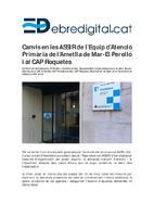 Canvis en les ASSIR de l'Equip d'Atenció Primària de l'Ametlla de Mar - El Perelló i al CAP de Roquetes.