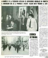 II Asamblea de la Federación Catalana de Asociaciones Musicales en Roquetes. El Gobernador de la Província D. Vicente Valero Costa presidió el acto
