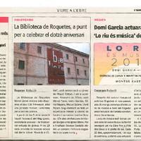 La Biblioteca de Roquetes, a punt per a celebrar el dotzè aniversari.