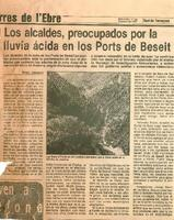 Los alcaldes, preocupados por la lluvia ácida en los Ports de Beseit