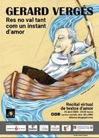 Il·lustració per al cartell 'Gerard Vergés: res no val tant com un instant d'amor: recital virtual de textos d'amor'