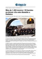 Més de 1.400 músics i 30 bandes es donen cita este dissabte a Deltebre.