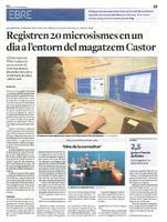 Registren 20 microsismes en un dia a l'entorn del magatzem Castor
