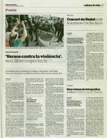 """""""Versos contra la violència"""", nou llibre i espectacle."""