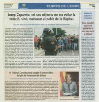 """Josep Caparrós: """"el seu objectiu no era evitar la votació, sinó, matxucar al poble de la Ràpita."""""""