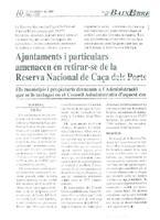 Ajuntaments i particulars amenacen en retirar-se de la Reserva Nacional de Caça dels Ports.