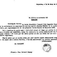 El CD Roquetenc comunica a Sílvia Arrastrària Espuny que ha estat escollida Pubilla per representar el club a les Festes Majors de 1988