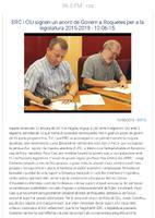 ERC i CiU signen un acord de Govern a Roquetes per a la legislatura 2015-2019