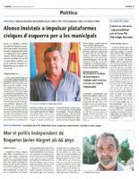 Mor el polític independent de Roquetes Javier Alegret als 66 anys