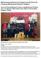 600 persones participen en la primera cursa del Circuit de Curses per Muntanya del Camp de Tarragona