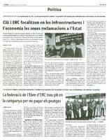 La federació de l'Ebre d'ERC trau pit en la campanya per no pagar els peatges
