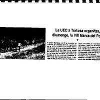 La UEC a Tortosa organitza, diumenge, la VIII Marxa del Port