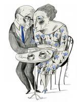 Il·lustració 'Sort de l'amor' d'Ignasi Blanch per a Catorze.cat, 2020