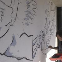 Una placa i un mural per commemorar els fets de l'1-O a Roquetes.